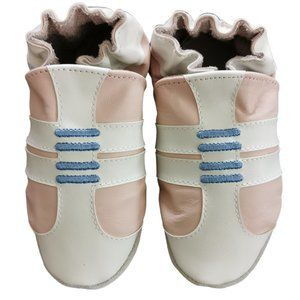 Robeez Trainers Soft Sole Shoes, Pastel Pink